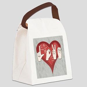 LoveASL2 Canvas Lunch Bag