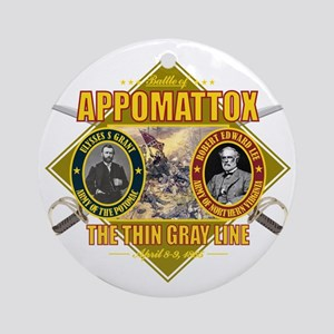 Appomattox (battle)1 Round Ornament