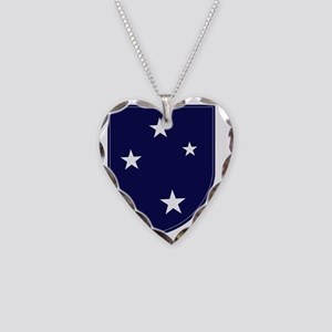 23rd Infantry Division Necklace Heart Charm