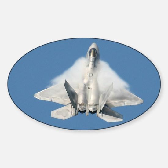 F22 Angel Wings Calendar Cover Sticker (Oval)