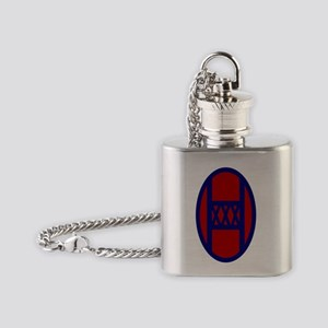 30th Infantry Division Flask Necklace