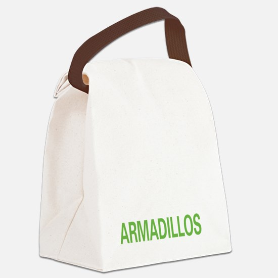 livearmadillo2 Canvas Lunch Bag