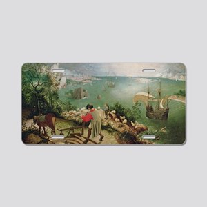 Landscape with the Fall of  Aluminum License Plate