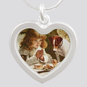 Suspense by Charles Burton B Silver Heart Necklace