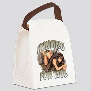 CP1008-HuntingForTail-Pinup Canvas Lunch Bag
