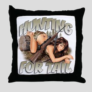 CP1008-HuntingForTail-Pinup Throw Pillow