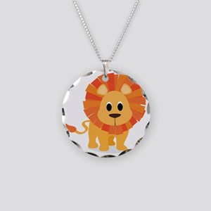 lion Necklace Circle Charm