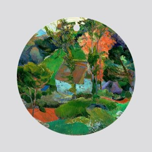 Landscape at Pont Aven by Paul Gaug Round Ornament