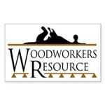 Woodworkers Resource Rectangle Sticker