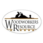 Woodworkers Resource Oval Sticker