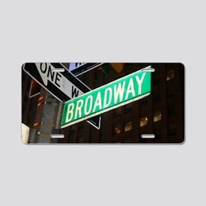 broadway3 Aluminum License Plate
