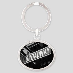 broadway4 Oval Keychain