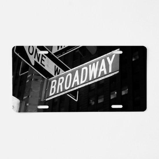 broadway4 Aluminum License Plate