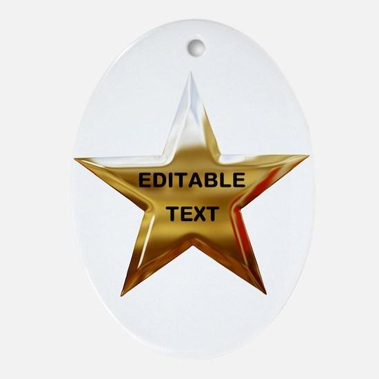 Superstar Ornament (Oval)