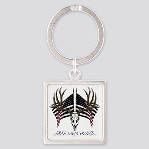 Free men hunt Square Keychain