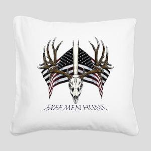 Free men hunt Square Canvas Pillow