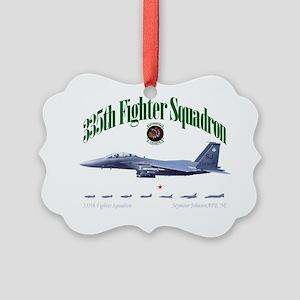 EagleStrike black Picture Ornament