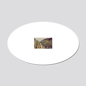Boulevard Montmartre, Spring 20x12 Oval Wall Decal