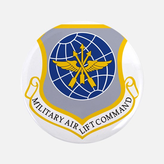"""Military Airlift Command MAC 3.5"""" Button"""