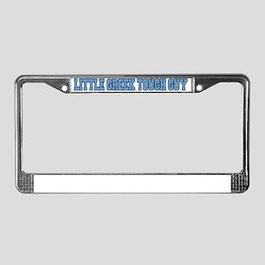 Little Greek Tough Guy Hat License Plate Frame