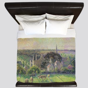 The Church and Farm of Eragny by Camill King Duvet