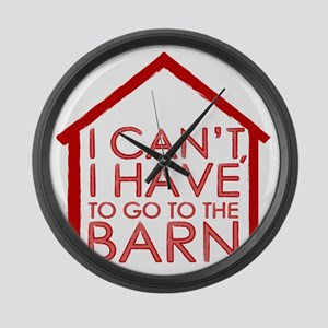 To The Barn Large Wall Clock
