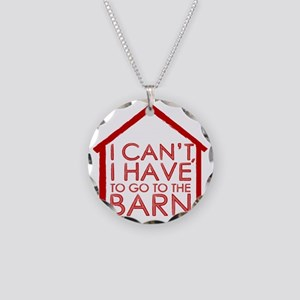 To The Barn Necklace Circle Charm