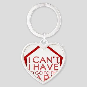 To The Barn Heart Keychain