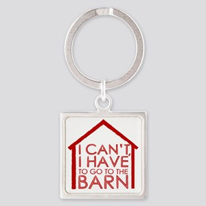 To The Barn Square Keychain