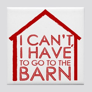 To The Barn Tile Coaster