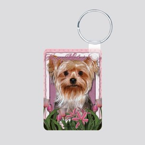 Mothers_Day_Pink_Tulips_Yo Aluminum Photo Keychain