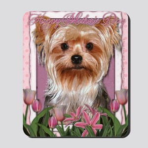 Mothers_Day_Pink_Tulips_Yorkshire_Terrie Mousepad