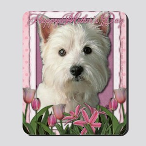 Mothers_Day_Pink_Tulips_Westie Mousepad