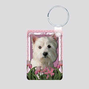 Mothers_Day_Pink_Tulips_We Aluminum Photo Keychain