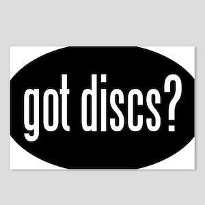 got-discs-oval-black Postcards (Package of 8)