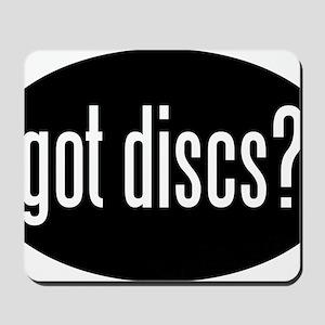 got-discs-oval-black Mousepad