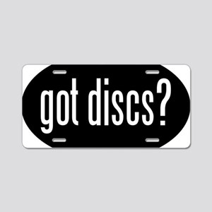 got-discs-oval-black Aluminum License Plate