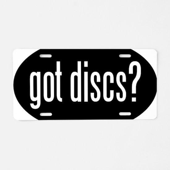 got-discs-oval-black Aluminum License Plate