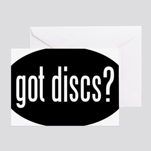 got-discs-oval-black Greeting Card