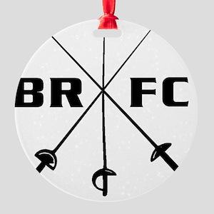 brfc_pocket_6x6_bw Round Ornament