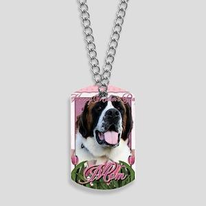 Mothers_Day_Pink_Tulips_Saint_Bernard_Mae Dog Tags