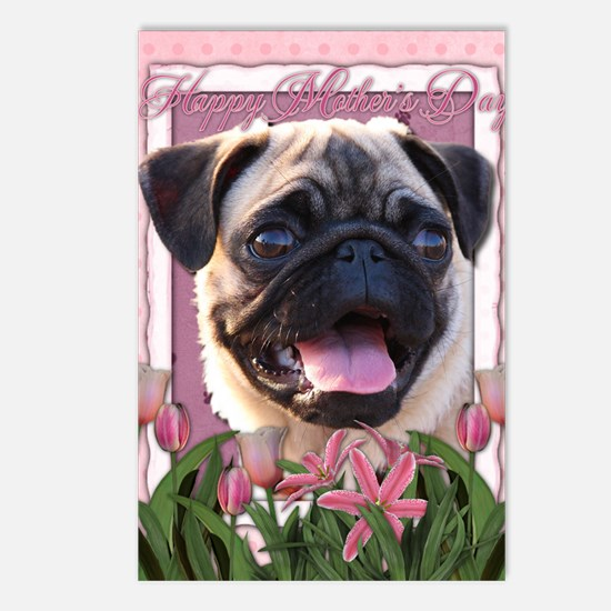 Mothers_Day_Pink_Tulips_P Postcards (Package of 8)