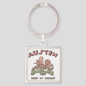 austin-weird-1-T Square Keychain