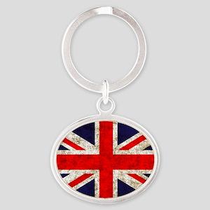 UK Flag Oval Keychain
