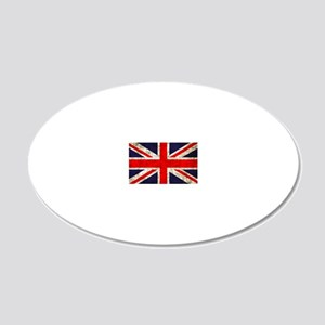 UK Flag 20x12 Oval Wall Decal