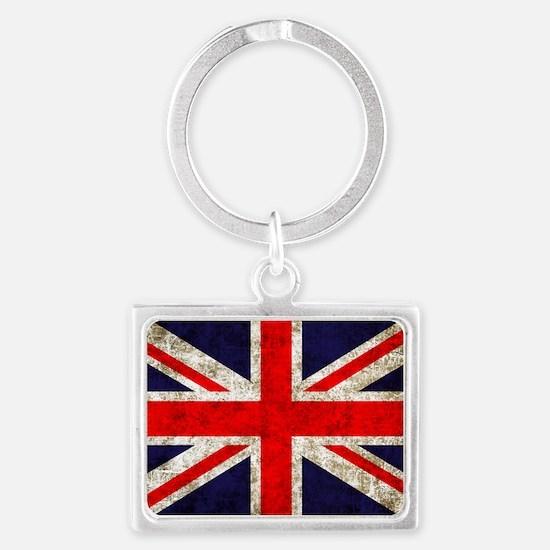 UK Flag Landscape Keychain