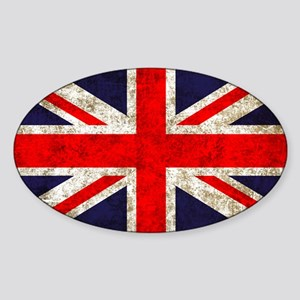 UK Flag Sticker (Oval)