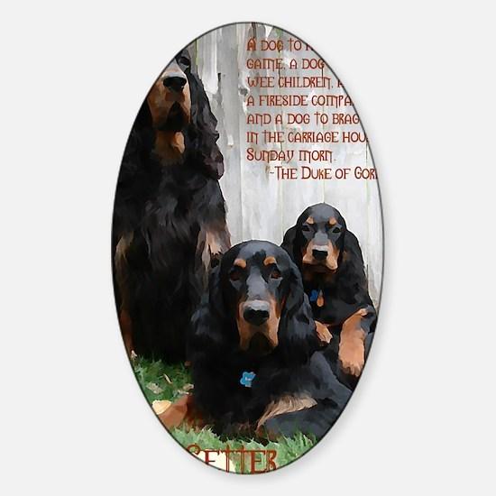 DukeOfGordonSetter2 Sticker (Oval)