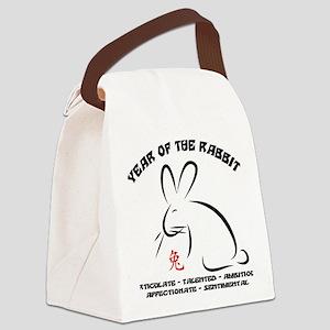 rabbit36light Canvas Lunch Bag