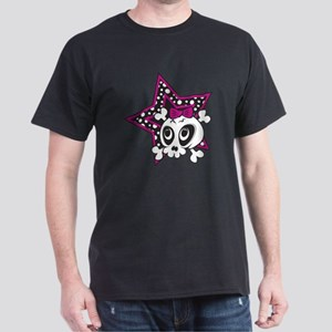 Girly Emo Skull Dark T-Shirt